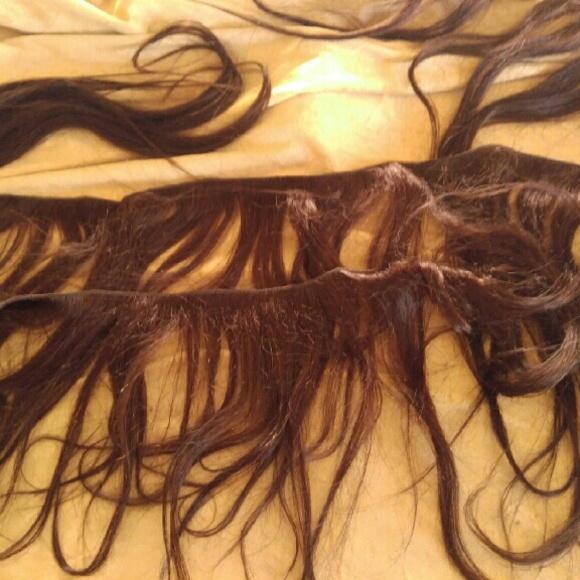 Vienna Accessories Dark Brown Real Hair Extensions Poshmark