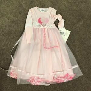 Rare Editions Other - NWT Adorable pink velvet party dress sz 5