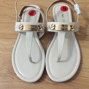 ‼️SOLD‼️ Coach Caterine Sandals Patent Leather