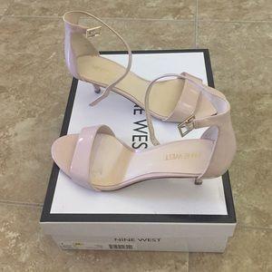 5b3173455464 Nine West Shoes - Nine West Leisa Nude Ankle Strap Heel
