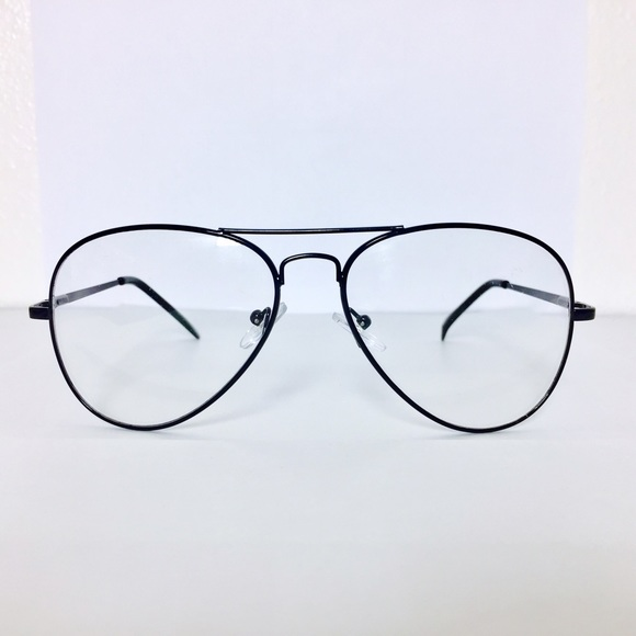 c32a76d889e31 Vintage Black Frame Aviator Glasses