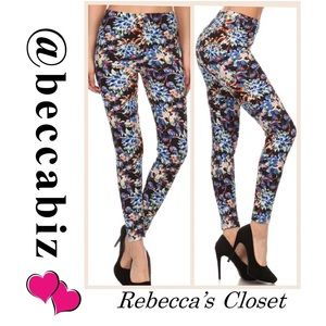 Soft floral full length fitted legging