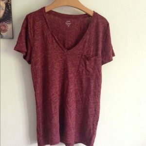 J. Crew Tops - J crew 100%linen v-neck pocket tee