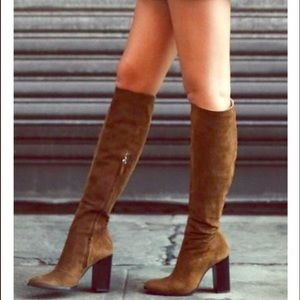 Zara heeled tall boot size 40