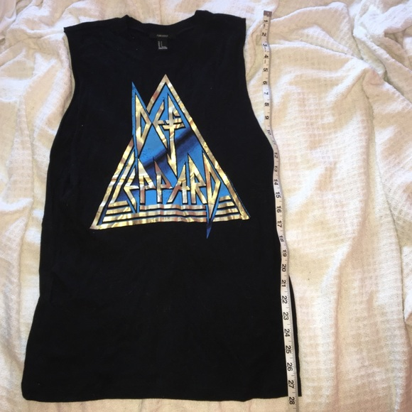 9f218987 Forever 21 Tops - Def Leppard Black Muscle Tee SM Forever 21