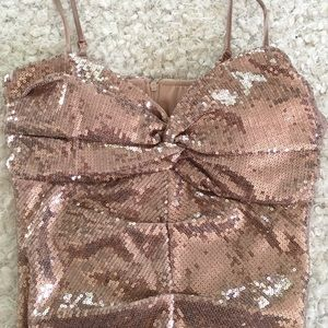 Windsor Rose Gold sequin dress