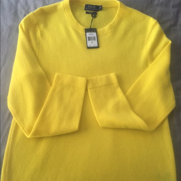 ecfc11a38419 Ralph Lauren yellow cashmere sweater New With Tags