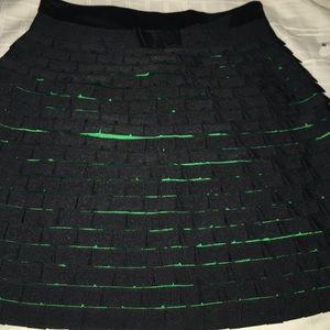 Karen Millen Dresses & Skirts - Karen Millen England black green skirt size 12