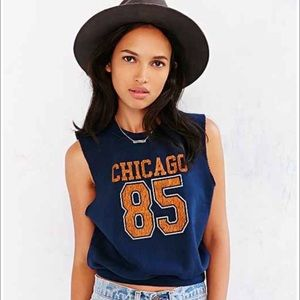 Prince Peter Collection Tops - Chicago 85 Cropped Sleeveless Sweatshirt