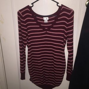 Long sleeve maternity sweater top