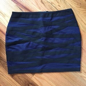 Black and Blue Express Mini Skirt