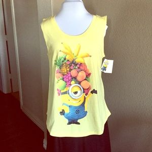 Despicable Me Minion Made Tops - Minions Tank Top with Sheer Cut-Out on Back