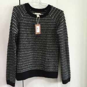 Bass Sweaters - 🆕 Bass - NWT- Black Tuck Stitch Sweater, XS/S