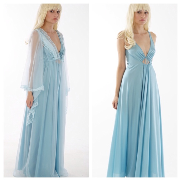 Olga Intimates & Sleepwear | Vintage 70s Nightgown With Pretty ...
