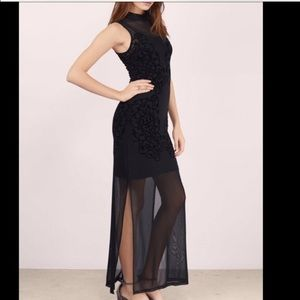 MINKPINK Dresses & Skirts - MINKPINK Meshed Up Maxi Dress $98 XS NWT high neck