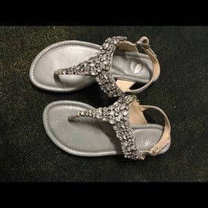 Natures Purest Shoes - Nature beautiful silver sandals with stones