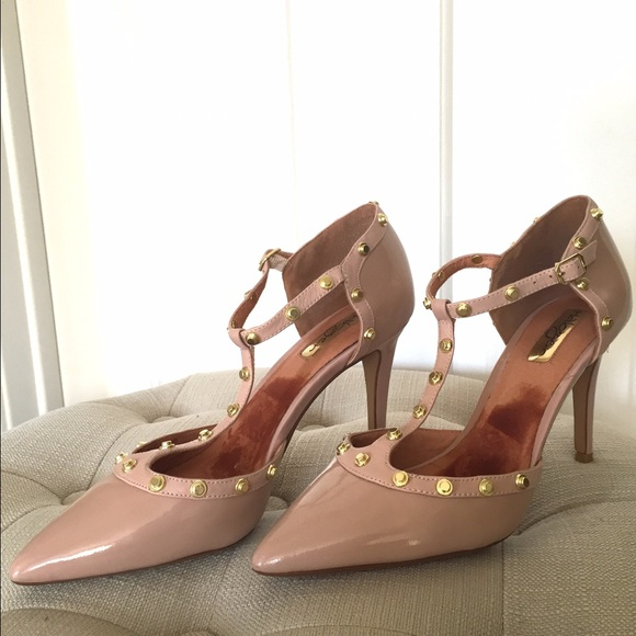4236ea61219 Halogen Shoes - Halogen Martine nude studded t-strap pumps