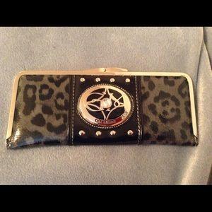 Gia Milani Handbags - Gia Milani Leopard Print Clutch
