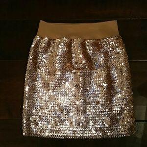 SALE! Gold Sequin Skirt NWOT