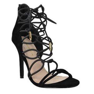 Shoe republic la Shoes - SHOE REPUBLIC LA PEPE STRAPPY HEELS - BLACK
