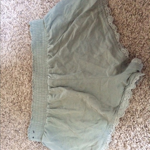 60% off Hollister Pants - Navy green flowy shorts from Katelyn's ...