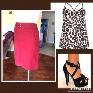 Worthington Dresses & Skirts - Red military style skirt size 10