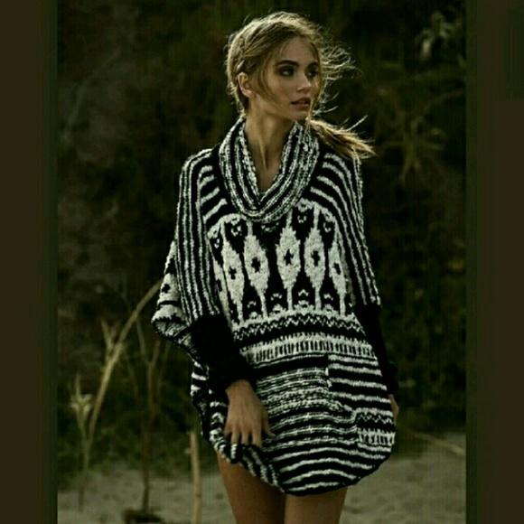 524db4c593 Free People Sweaters | Rosie Lee Poncho Sweater Nwt Hp | Poshmark