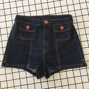 High Waisted Denim Jean Shorts