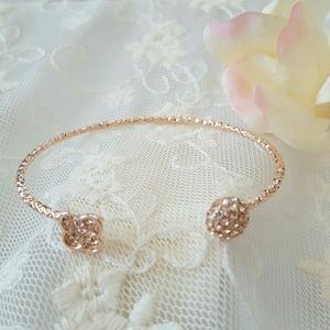 T&J Designs Jewelry - Czech crystal rose gold bracelet