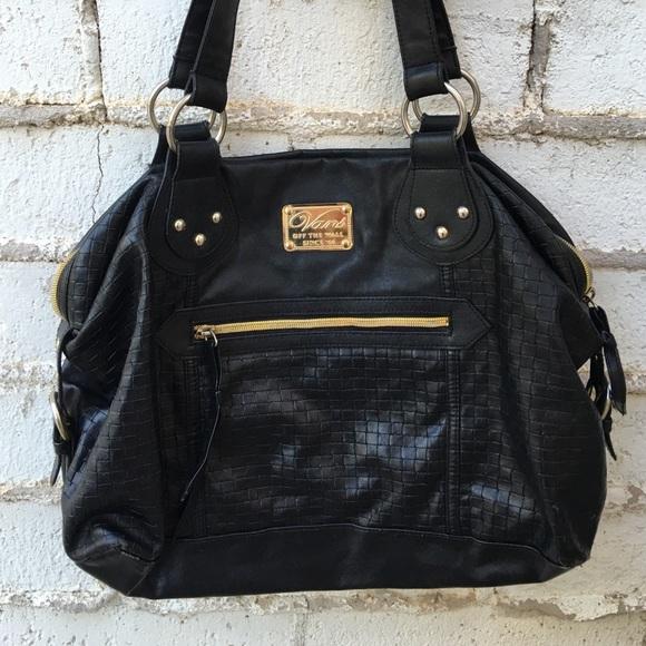 c885391e17 Black and gold vans purse. M 57ad2ae1f0137db4cd02ded3