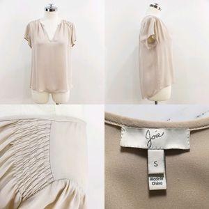 4f85b902664c52 Joie Tops -   joie   nude silk short sleeve blouse v-neck