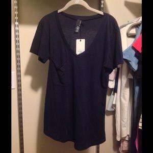 Bobi Tops - BOBI Navy Pocket Tshirt