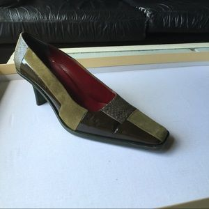 Fratelli Rossetti Shoes - Fratelli Rossetti Olive Color Block Pumps