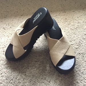 Callisto Shoes - Callisto nude wedges