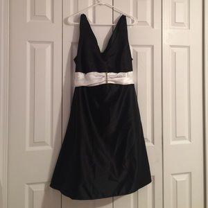 Onyx Dresses & Skirts - Black and White Formal A-line Dress