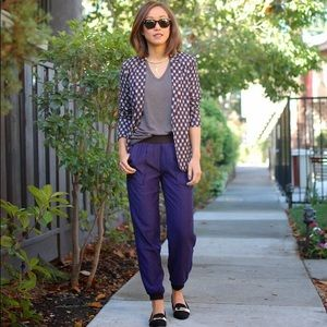 Urban Outfitters Pants - NEW urban outfitters purple printed trousers