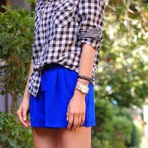 Like NEW forever21cobalt blue breezy jogger shorts