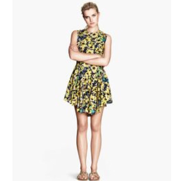 20fa63f49cc95 H&M Dresses | Hm Yellow Floral Dress | Poshmark