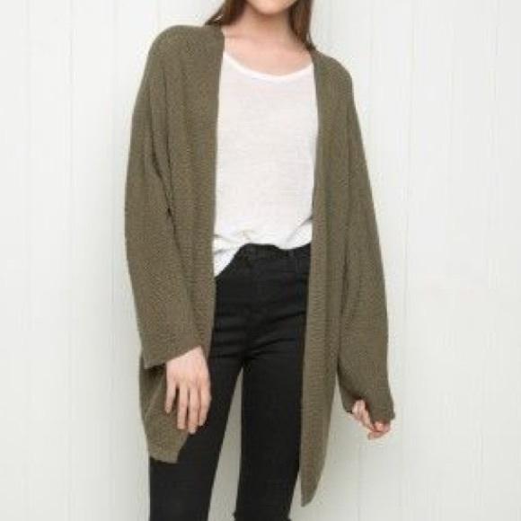 f946eb9f1663 Brandy Melville Sweaters - Brandy Melville Olive Green Cardigan Caroline