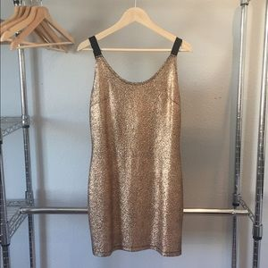 Dresses & Skirts - Metallic mini dress