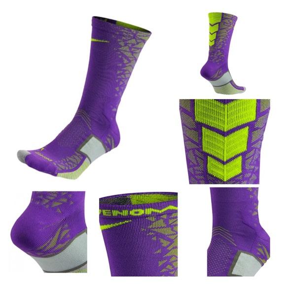 9a044cb9c75e Nike Accessories | Crew Socks Matchfit Hypervenom Purple Purple ...
