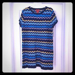 Missoni Dresses & Skirts - Blue Zig Zag Dress