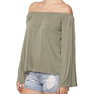 83d28e01ed1604 Cotton On Tops   Washed Fir Petrova Cold Shoulder Top   Poshmark