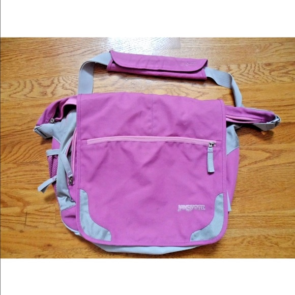 70% off Jansport Handbags - Pink Jansport Messenger Bag Laptop ...