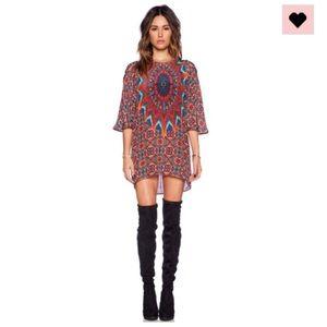 Tolani Dresses & Skirts - Tolani Kristy blouse tunic silk festival dress