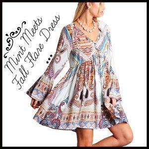 Boutique Dresses & Skirts - Mint Hues Boho Dress