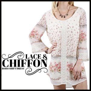 Boutique Dresses & Skirts - Lace n' Chiffon Swing Dress