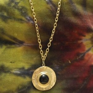 Jewelry - Vintage gold plate disc necklace