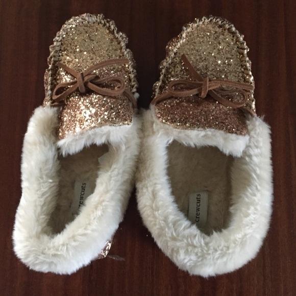 J Crew Gold Kids Slippers | Poshmark