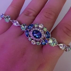 Givenchy Crystal Bracelet & Earrings Set